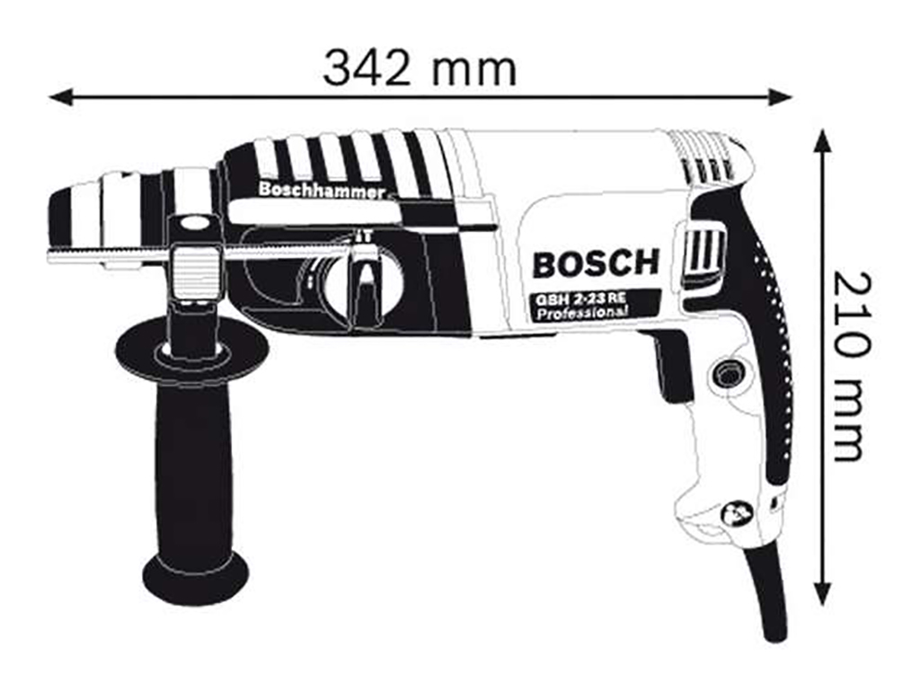 Description photo 1 of BOSCH GBH 2-23 RE ROTARY HAMMER 650W<br>BOSCH GBH 2-23 RE ម៉ូទ័រស្វានបុក 650 វ៉ាត់