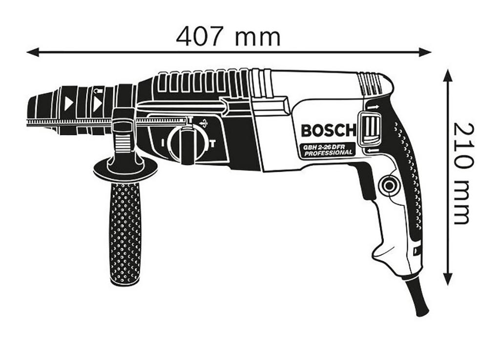 Description photo 1 of BOSCH GBH 2-26 DFR ROTARY HAMMER 800W<br>BOSCH  2-26 DFR ម៉ូទ័រស្វានបុក 800 វ៉ាត់