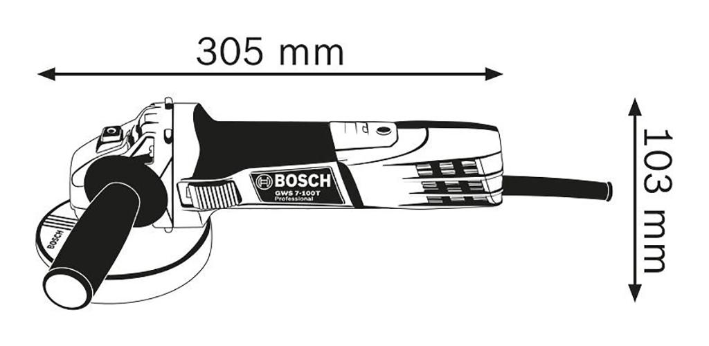 Description photo 1 of BOSCH GWS 7-100 ANGLE GRINDER 720W<br>BOSCH GWS 7-100 ម៉ូទ័រឆាប 720 វ៉ាត់