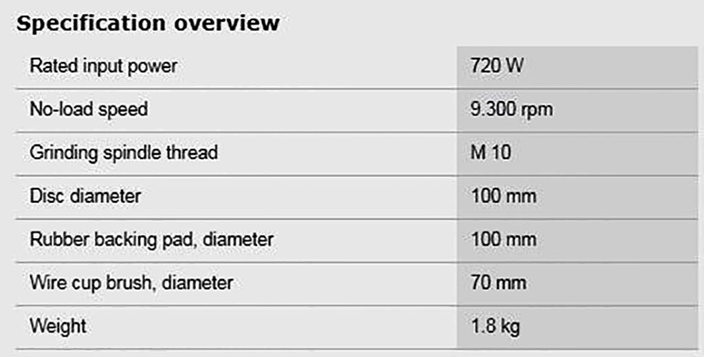 Description photo 2 of BOSCH GWS 7-100 ANGLE GRINDER 720W<br>BOSCH GWS 7-100 ម៉ូទ័រឆាប 720 វ៉ាត់