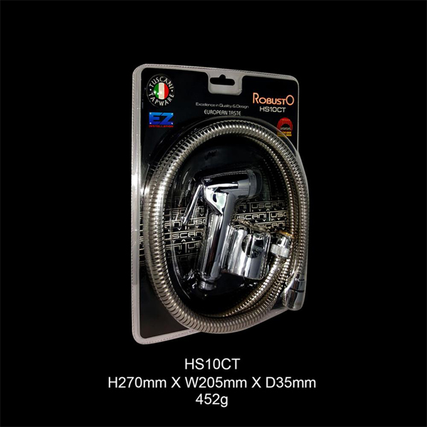 Description photo 2 of TUSCANI HS10CT 1.2M HOSE,WIRE MESH WASHER,HOLDER <br> ឈុតទុយោទឹកអនាម័យ (1.2 ម៉ែត្រ)