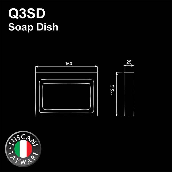 Description photo 1 of TUSCANI Q3SD SOAP DISH CORNER <br> ធ្នើរដាក់សាប៊ូដុំប្រើសម្រាប់កាច់ជ្រុង