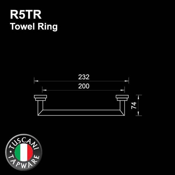 Description photo 1 of TUSCANI R5TR TOWEL RING <br> កងព្យួរកន្សែង