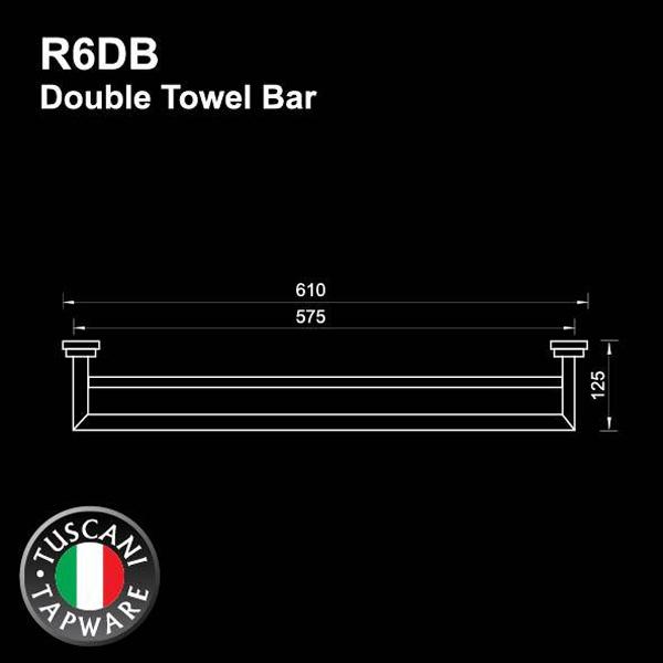 Description photo 1 of TUSCANI R6DB DOUBLE TOWEL BAR (60CM) 5548 <br> ឧបករណ៏ព្យួរកន្សែង