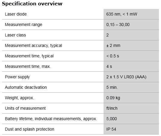 Description photo 2 of BOSCH GLM 30 PROFESSIONAL 30M<br>BOSCH GLM 30 ម៉ាស៊ីនឡាសែវ៉ាស់ចំងាយ 30 ម៉ែត្រ