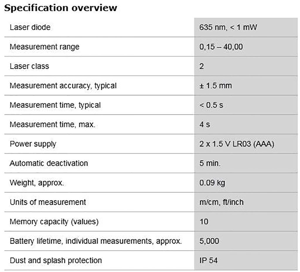 Description photo 2 of BOSCH GLM 40 PROFESSIONAL 40M<br>BOSCH  GLM 40 ម៉ាស៊ីនឡាសែវ៉ាស់ចំងាយ 40 ម៉ែត្រ
