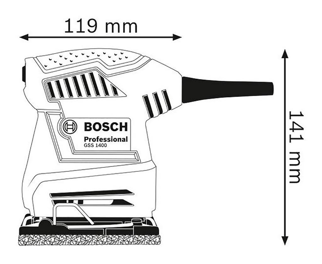 Description photo 1 of BOSCH GSS 1400 ORBITAL SANDER<br>BOSCH GSS 1400 ម៉ូទ័រខាត់ញាក់
