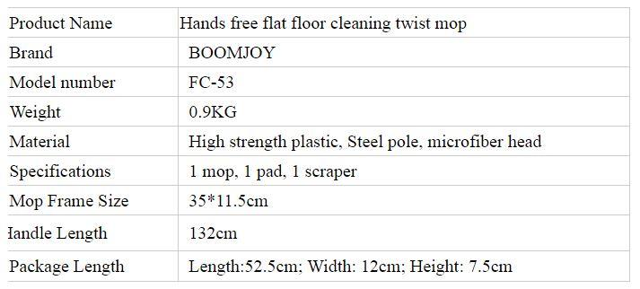Description photo 2 of BOOMJOY JY8748 TWIST FLAT MOP E-N340<br>ប្រដាប់ជូតផ្ទះ (E-N340)