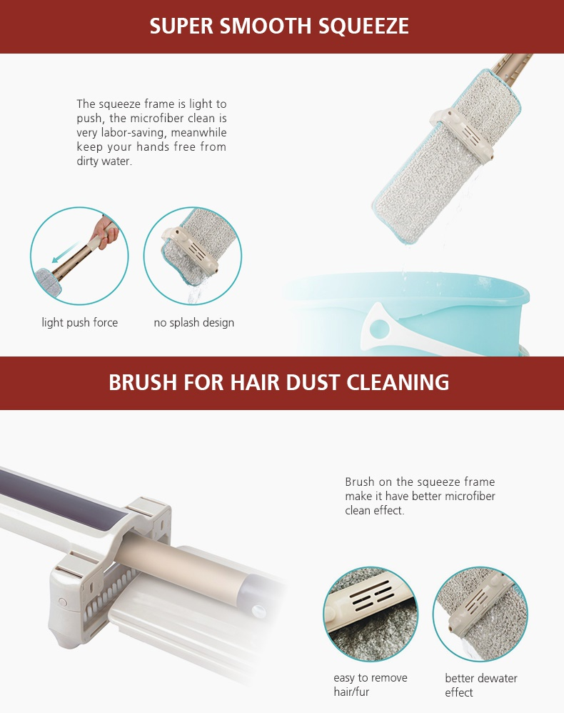 Feature photo 3 of BOOMJOY EH-380 HAND-FREE FLAT MOP<br>ប្រដាប់ជូតផ្ទះ<br>免提拖把