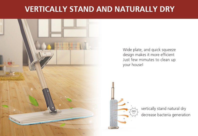 Feature photo 5 of BOOMJOY EH-380 HAND-FREE FLAT MOP<br>ប្រដាប់ជូតផ្ទះ<br>免提拖把