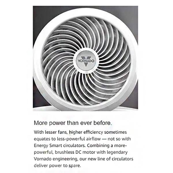 Feature photo 3 of VORNADO 6303DC AIR CIRCULATOR WHITE<br>កង្ហារ